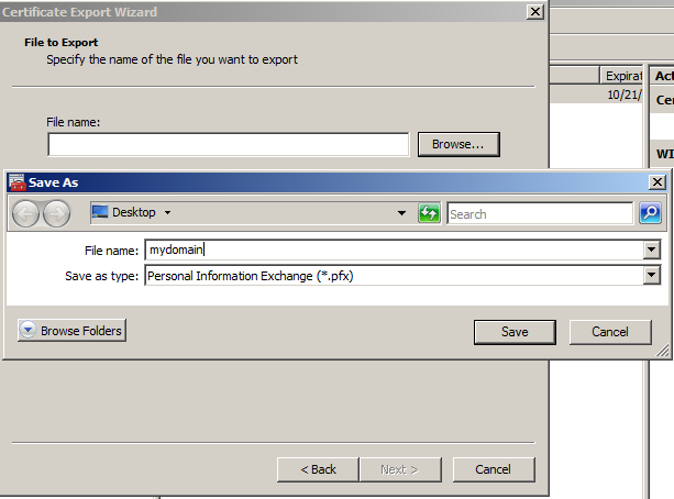 Windows SSL Export 13