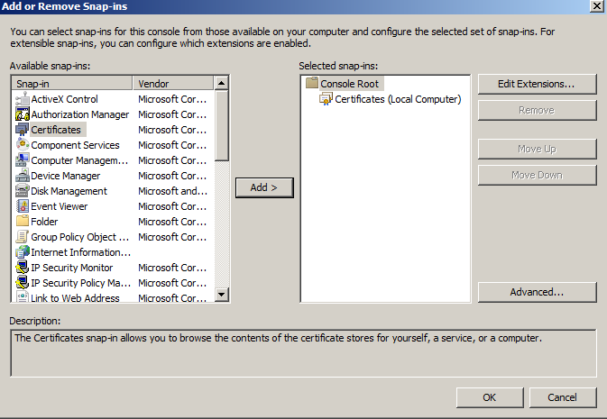 Windows SSL Export 6